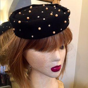 Vintage Rhinestone & Pearl Scattershot Hat